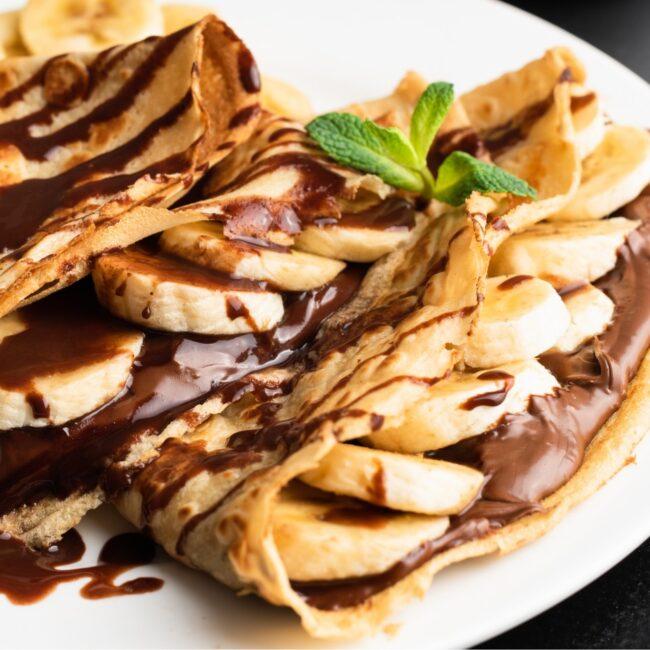 Crepe de Banana e Chocolate