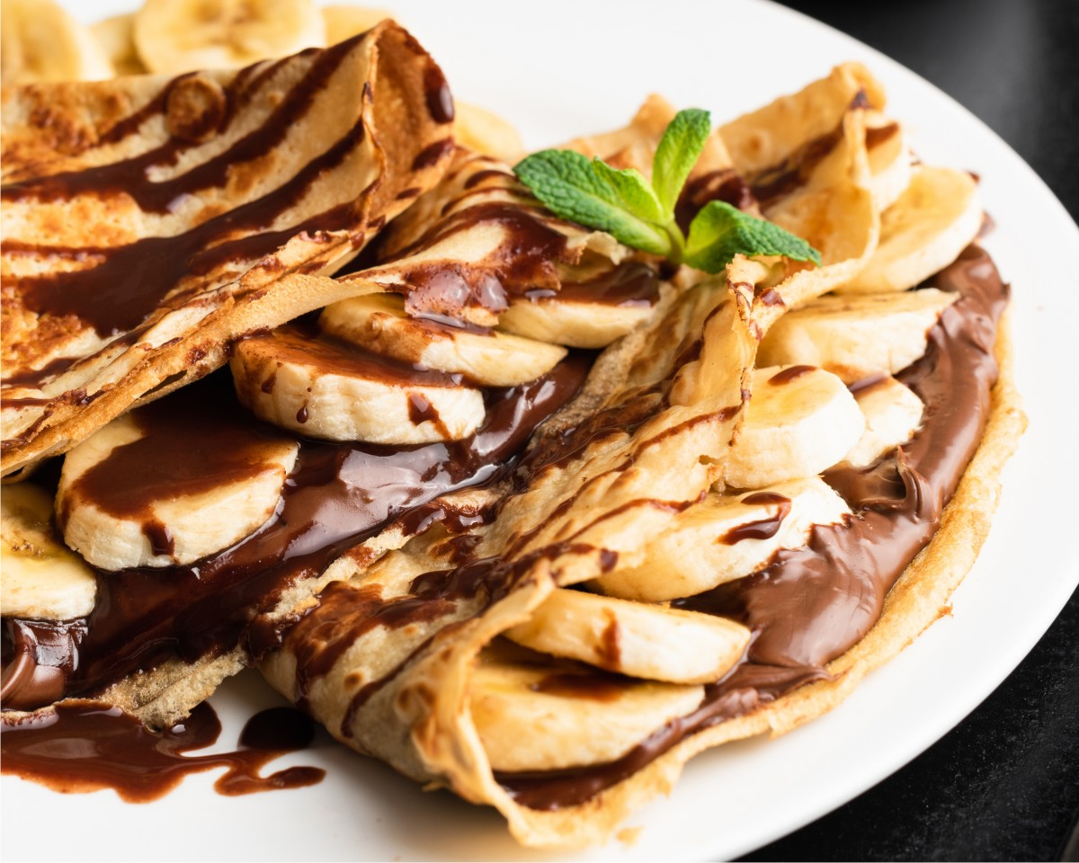 Crepe de Banana e Chocolate