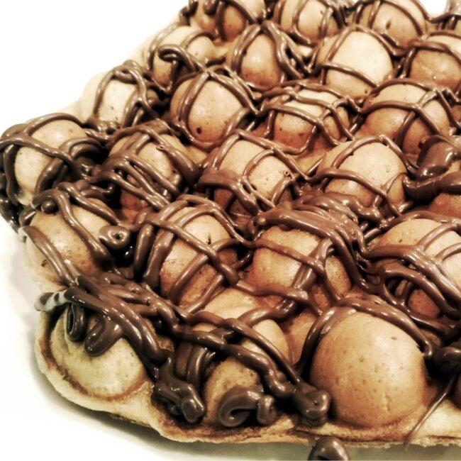 Waffle Bubble com Nutella